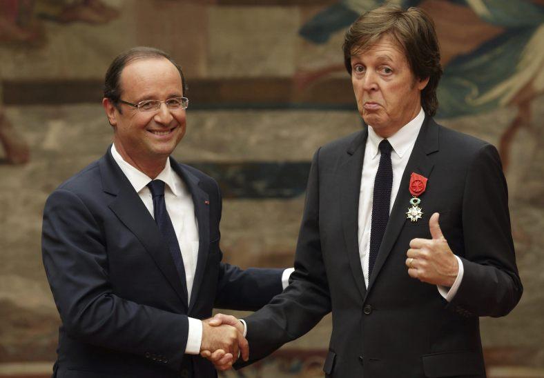 Paul McCartney receives Legion d'honneur