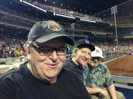 Michael Moore Bill Mahler y Salman Rushdie