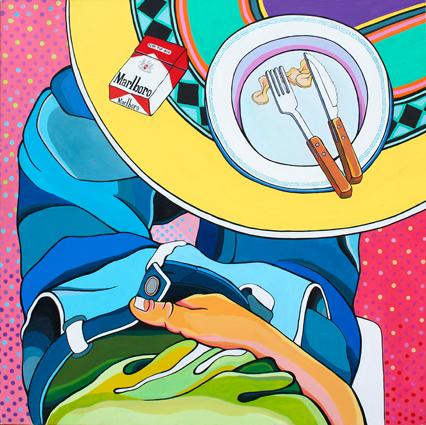 RSE-Sin título- acrilico sobre tela-100 x 100 cm- 2013