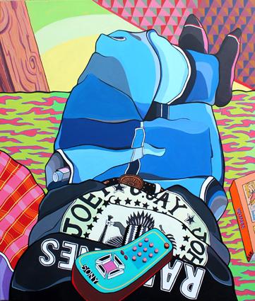 RSE -Sin título- acrilico sobre tela-120 x 100 cm- 2013
