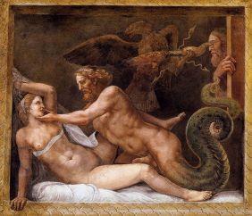 696px-Giulio_Romano_-_Jupiter_Seducing_Olympias_-_WGA09573